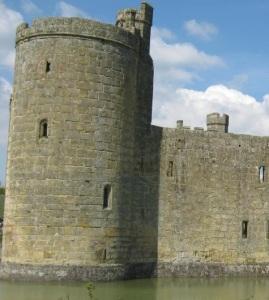 Bodiam Castle in East Sussex
