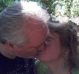 John and Arianna Kissing