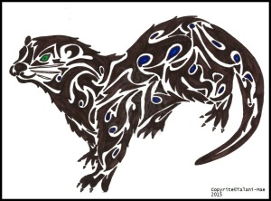 Tribal Otter Totem by Talani Mae
