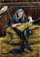 Witch mending broom