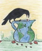 Crow with Water Pitcher Offerings logo